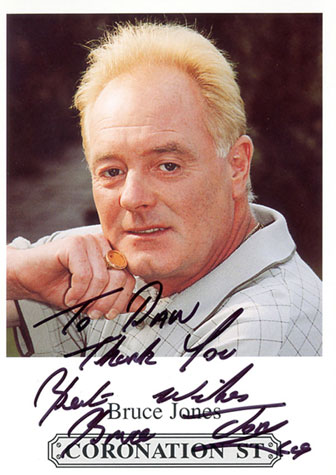 actor bruce jones les battersby autograph